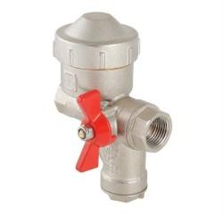"""КФРД - Кран шар. со встроенным фильтром и редуктором давления, рукоятка бабочка 1/2"""" вн.-вн. (прав)"""