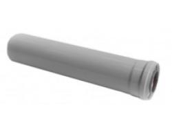Удлин.дымохода 1000мм коакс 60/100 Silver BCSA 0488