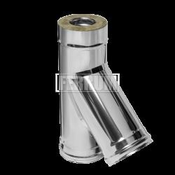 Сэндвич-тройник Ferrum 135° (430/0,5 мм + нерж.) Ø130х200