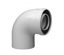 Колено коаксиальное алюминиевое 90 гр. 60/100 CС-PR-01( в сборе с фланцем и прокладкой)