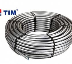 Труба TIM Stabili  16х2,0 (бухта 100 метров)  сер.сш. с алюм. слоем, кислород. барьером